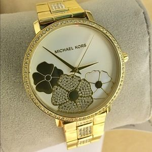 Michael Kors Pave Crystal Gold-tone Watch